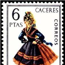 Sellos: ESPAÑA 1967 - TRAJES TIPICOS REGIONALES - CACERES - EDIFIL Nº 1776** . Lote 164666970