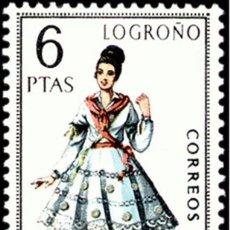 Sellos: ESPAÑA 1969 - TRAJES TIPICOS REGIONALES - LOGROÑO - EDIFIL Nº 1902** . Lote 104302323