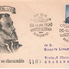 Briefmarken - España. Sobre con sello de San Francisco Javier circulado Primer día - 105238963