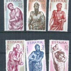 Sellos: R26/ ESPAÑA EDIFIL 1438/43, MNH **, 1962, ALONSO DE BERRUGUETE, CATALOGO 8,00€. Lote 105592435
