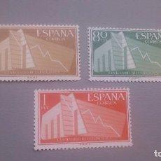 Sellos: 1956 - EDIFIL 1196/1198 - SERIE COMPLETA - MH* - NUEVOS - I CENTENARIO DE LA ESTADISTICA ESPAÑOLA.. Lote 106101043