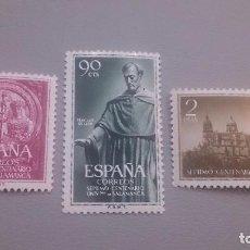 Sellos: 1953 - EDIFIL 1126/1128 - BONITOS - MH* - NUEVOS - VII CENTENARIO DE LA UNIVERSIDAD DE SALAMANCA.. Lote 106101439