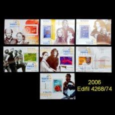 Sellos: 2006. EDIFIL 4268/74. EXPOSICIÓN MUNDIAL DE FILATELIA. ESPAÑA 06. NUEVO** MNH. Lote 106590247