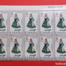Sellos: ESPAÑA - EDIFIL 1846 - TRAJES TIPICOS - GRANADA - AÑO 1968 - BLOQUE DE 10 SELLOS - NUEVOS.. R-7876. Lote 106912395