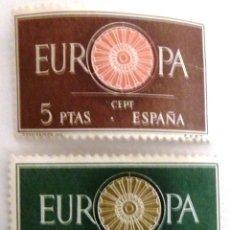 Sellos: SELLOS ESPAÑA 1960. NUEVOS. EDIFIL 1294/95. EUROPA CEPT.. Lote 177575553