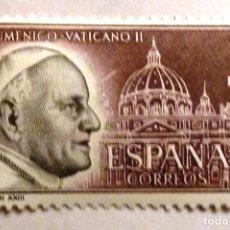 Sellos: SELLOS ESPAÑA 1962. NUEVO. EDIFIL 1480. JUAN XXIII. CONCILIO ECUMENICO VATICANO II.. Lote 108459496