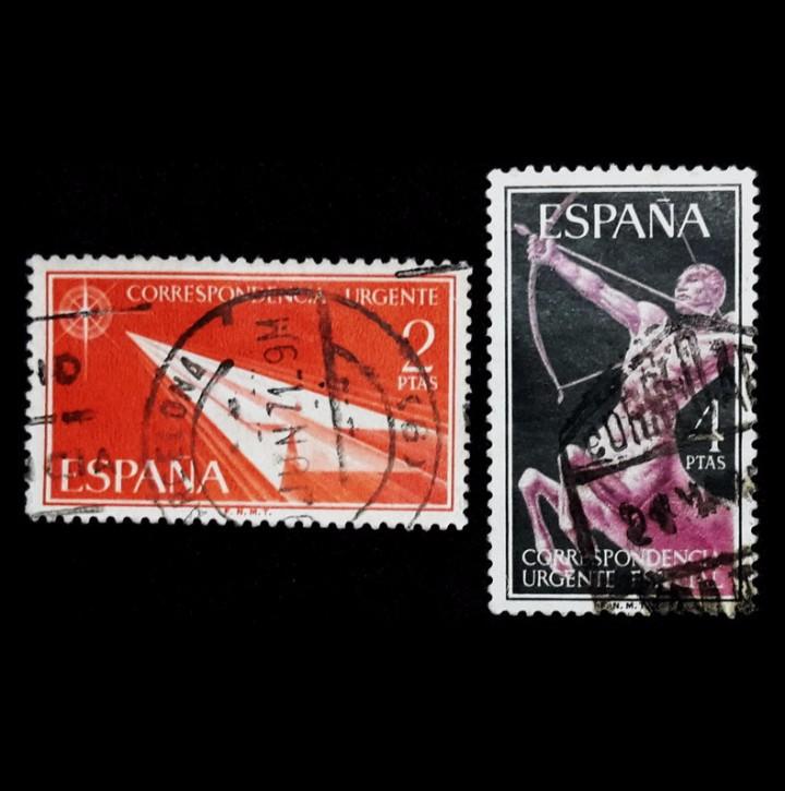 ESPAÑA 1956. EDIFIL 1185/86 1186. ALEGORÍAS. USADO (Sellos - España - II Centenario De 1.950 a 1.975 - Usados)