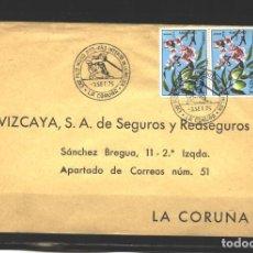 Sellos: ESPAÑA 1975 -SOBRE CONMEMORATIVO EXPO. FILATELICA MARIA PITA 1975 - A CORUÑA - USADO. Lote 109050215