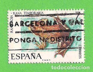 EDIFIL 2276. FAUNA HISPÁNICA - RANA ROJA. (1975). (Sellos - España - II Centenario De 1.950 a 1.975 - Usados)