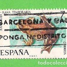 Sellos: EDIFIL 2276. FAUNA HISPÁNICA - RANA ROJA. (1975).. Lote 109374351
