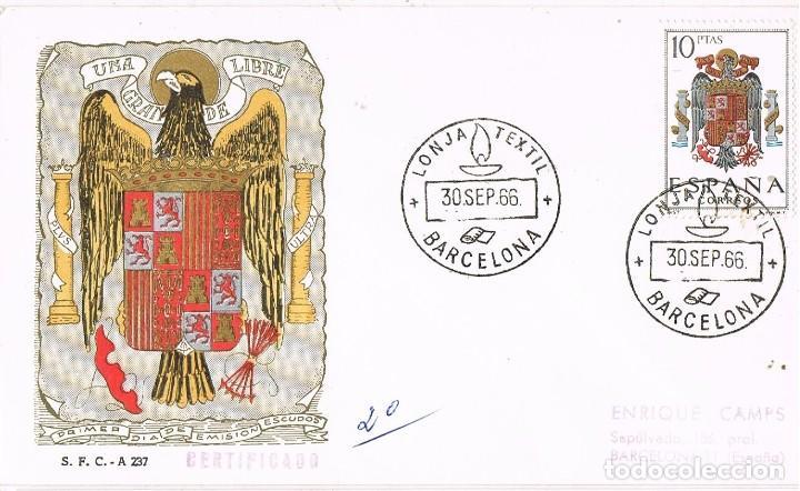 0461. CARTA CERTIFICADA BARCELONA 1966. LONJA TEXTIL (Sellos - España - II Centenario De 1.950 a 1.975 - Cartas)