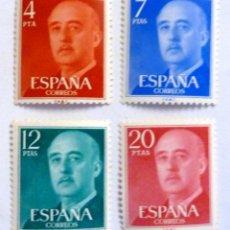 Sellos: SELLOS ESPAÑA 1974. EDIFIL 2225/2228. NUEVOS. GENERAL FRANCO.. Lote 153713248