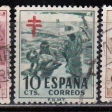 Sellos: ESPAÑA , 1951 EDIFIL Nº 1103 / 1105 . Lote 110668691