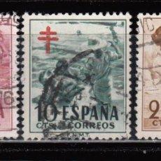 Sellos: ESPAÑA , 1951 EDIFIL Nº 1103 / 1105 . Lote 110668803