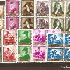 Sellos: SELLOS DE ESPAÑA AÑO 1958 PINTOR GOYA SELLOS NUEVOS** EN BLOQUE DE 4. Lote 110708951