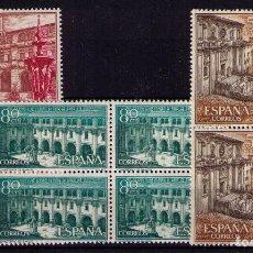 Sellos: SELLOS DE ESPAÑA AÑO 1960 MONASTERIO DE SAMOS SELLOS NUEVOS** EN BLOQUE DE 4. Lote 110709883