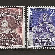 Sellos: R26.G2/ EDIFIL 1340/43, MNH **, 1961, CATALOGO 21,00, VELAZQUEZ. Lote 110791447