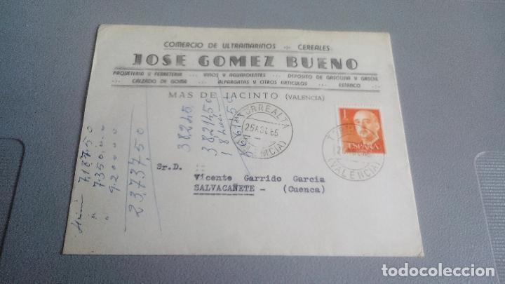 1965 - JOSE GOMEZ BUENO (COMERCIO DE ULTRAMARINOS / CERELARES) - MAS DE JACINTO (VALENCIA) (Sellos - España - II Centenario De 1.950 a 1.975 - Cartas)