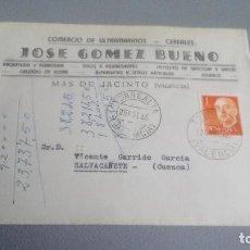 Sellos: 1965 - JOSE GOMEZ BUENO (COMERCIO DE ULTRAMARINOS / CERELARES) - MAS DE JACINTO (VALENCIA) . Lote 111597535
