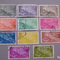 Sellos: 1955-56 - EDIFIL 1169/1179 - SERIE COMPLETA - SUPERCONSTELLATION Y NAO - SANTA MARIA. Lote 112248915