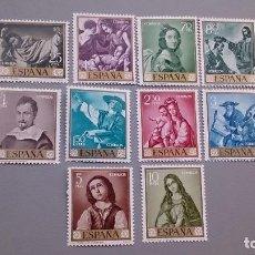 Sellos: 1962 - EDIFIL 1418/1427 - SERIE COMPLETA - MNH** - NUEVOS - FRANCISCO DE ZURBARAN.. Lote 112270219