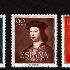 Sellos: 1952 - II CENTENARIO - EDIFIL 1106/1110 - SERIE COMPLETA - MH* - FERNADO EL CATOLICO.. Lote 114734671