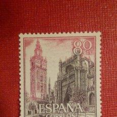 Francobolli: SELLO - ESPAÑA - CORREOS - LA CATEDRAL DE SEVILLA - 80 CTS - 1965 - EDIFIL 1647 - NUEVO. Lote 152844536