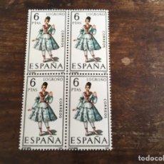 Sellos: EDIFIL 1902 - TRAJES REGIONALES LOGROÑO BLOQUE DE 4. Lote 117441567