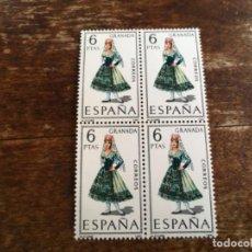 Sellos: EDIFIL 1846 - TRAJES REGIONALES GRANADA BLOQUE DE 4. Lote 117447519