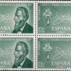 Sellos: 1967 EDIFIL 1790** NUEVOS SIN CHARNELA. BLOQUE DE CUATRO. CONGRESO RADIOLOGIA. Lote 118148967