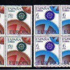 Sellos: 1967 EDIFIL 1795/96** NUEVOS SIN CHARNELA. BLOQUE DE CUATRO. EUROPA CEPT. Lote 118149247