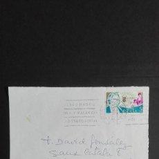Sellos: FRONTAL CARTA MATESELLOS RODILLO CON FECHA 1969 Y SELLO DE 1979 ERROR EN EL FECHADOR, RARA. Lote 118244235