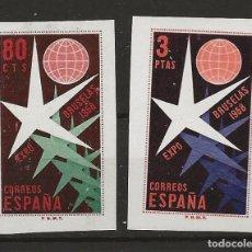 Sellos: R35/ EDIFIL 1222/23, MH*, 1958, CATALOGO 60,00€, EXPOSICION FILATELICA NACIONAL. Lote 118367499