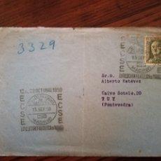 Sellos: 1950-CARTA POSTAL.ECSE EXPOSICION FILATELICA MADRID.USADA.. Lote 118385511