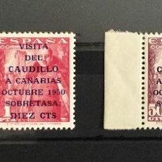 Sellos: 1951-ESPAÑA EDIFIL 1088/89** PAREJA MNH LUJO BORDE DE HOJA. Lote 118540311
