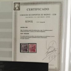 Sellos: 1950-ESPAÑA EDIFIL 1083A/B MNH** CERTIFICADO CEM 1083 A/B - SELLOS NUEVOS SIN CHARNELA -. Lote 118542571