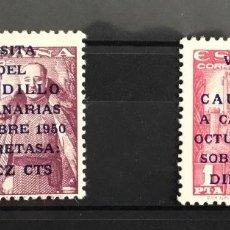 Sellos: 1951 ESPAÑA EDIFIL 1088/89 MNH** VISITA DEL CAUDILLO A CANARIAS. NUEVOS SIN FIJASELLOS. Lote 118544659