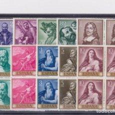 Sellos: 1963 EDIFIL 1498/1507** NUEVOS SIN CHARNELA. RIBERA. BLOQUE DE CUATRO. Lote 118677719
