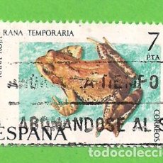 Sellos: EDIFIL 2276. FAUNA HISPÁNICA - RANA ROJA. (1975).. Lote 119444119
