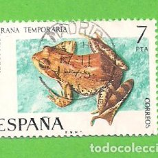 Sellos: EDIFIL 2276. FAUNA HISPÁNICA - RANA ROJA. (1975).. Lote 119444231