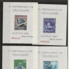 Sellos: R35.G7/ VELAZQUEZ 1961, MISMA NUMERACION, EDF. 1344/47, CAT. 36,00€. Lote 119535379
