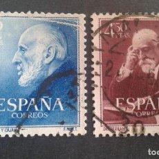 Briefmarken - ESPAÑA,1952,DOCTORES RAMÓN Y CAJAL Y FERRÁN,EDIFIL 1119-1120,COMPLETA,USADOS,(LOTE AR) - 119538551