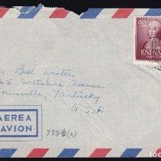Sellos: F23-53-CARTA MADRID -USA 1951. PAREJA ISABEL CATÓLICA. Lote 119901167