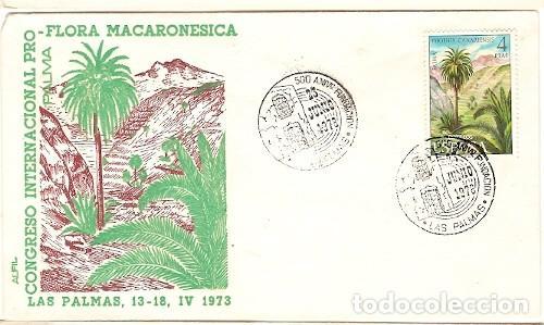 ESPANA & FDC CONGRESO INTERNACIONAL FLORA MACARONESICA, PALMA, LAS PALMAS 1973 (2236) (Sellos - España - II Centenario De 1.950 a 1.975 - Cartas)