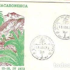 Sellos: ESPANA & FDC CONGRESO INTERNACIONAL FLORA MACARONESICA, PALMA, LAS PALMAS 1973 (2235) . Lote 120139375