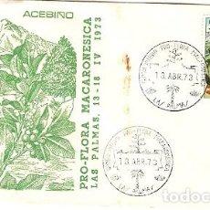 Sellos: ESPANA & FDC CONGRESO INTERNACIONAL FLORA MACARONESICA, ACEBINO, LAS PALMAS 1973 (2234). Lote 120139631