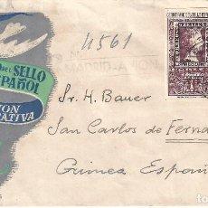 Sellos: EDIFIL 1079-1080 CENTENARIO DEL SELLO ESPAÑOL. SOBRE PRIMER DÍA DE CIRCULACIÓN 12-10-1950.. Lote 120685139