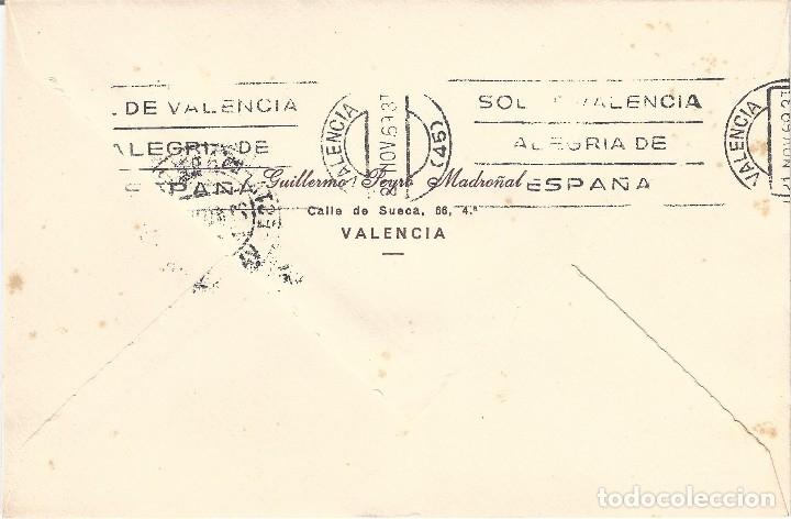 Sellos: SOBRE CON MATASELLOS ESTAFETA DE CAMBIO VALENCIA FECHA 21-11-1969. SELLO AMB. 10 A. COLOGNE. RARO. - Foto 2 - 120688751