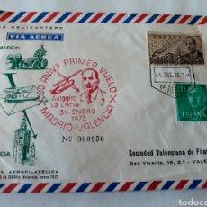 Sellos: SOBRE Y TARJETA FILATELICA 1973. Lote 120932795