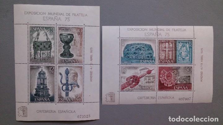 ESPAÑA - 1975 - EDIFIL 2252/2253 - SERIE COMPLETA 2 HOJITAS - MNH** - NUEVAS. (Sellos - España - II Centenario De 1.950 a 1.975 - Nuevos)